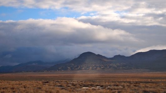 Mountains in the morning, north of Fallon on Hwy 95