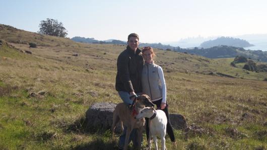 Family photo while hiking on Ring Mountain