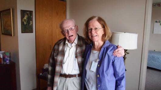 Granddad Mesle and Mum