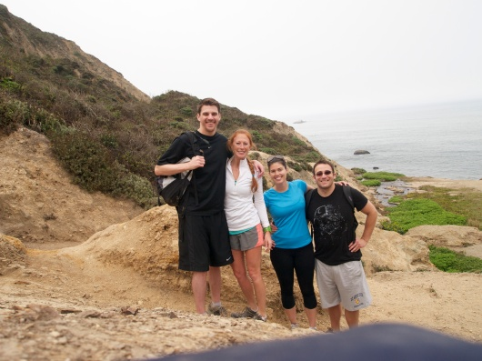 Jake, Meg, Katy and Scott at Alamere Falls